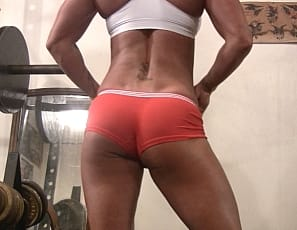 amazing abs, glorious glutes, and you even get a peek at her pretty pussy