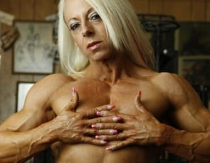 Professional female bodybuilder Nathalie Falk has a perfect six-pack. It's not the kind you drink from – it's made of muscular, ripped, vascular, tattooed abs, and when she's posing in the gym in nothing but panties, you can't stop looking at it. Her pecs, legs,...