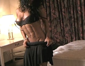 Sultry Ynez is in the bedroom wearing sexy stockings, super-high heels and pretty lace panties, showing off her flexibility. She looks good enough to eat from every angle, especially when she pushes her dress to the side and shows off her amazing pecs. Those glutes,...