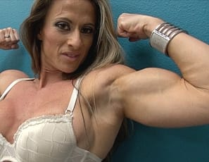 Tattooed female bodybuilder Maria Garcia is a professional