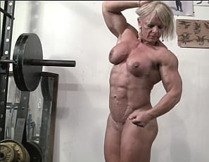 MuscleTease is again working out in the gym