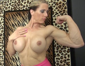 Female bodybuilder Sophie poses for you