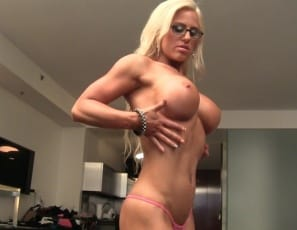 powerful pecs, big, vascular biceps, ripped abs, muscular legs
