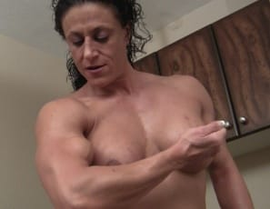 Do you feel powerless? ripped, tattooed female bodybuilder Miss Lisa asks as she towers over you naked, posing and flexing the powerful, mature muscles of her pecs, vascular biceps, shredded abs and massive legs and glutes. I have the power, she says. You'd...