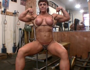 Her pecs, legs, glutes and abs are worthy of an Amazon