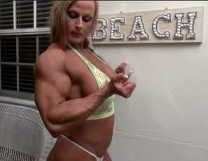 a virtual session with tattooed female bodybuilder Nuriye