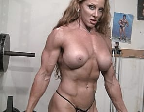 Super sexy muscle redhead IronFire is back